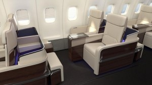 The seats in the Four Season private jet