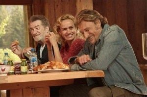 Sandrine Bonnaire, Eddy Mitchell and Johnny Hallyday