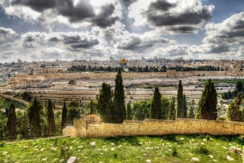 View of Jerusalem's Old City from the Mount of Olives