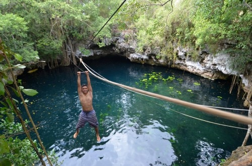 puerto morelos cenote 500x331 Top 7 Things to Do on Mexicos Riviera Maya
