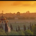 Sunset view from Mount of Olives