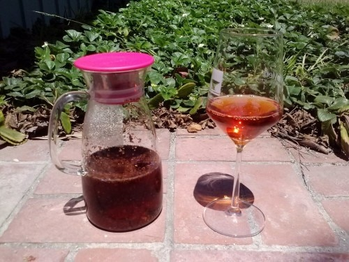 tea infused pinot grigio 500x375 Tattle Tea Wine Infusion Kit   Review