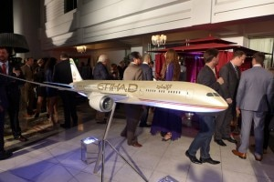 A model of an Etihad Airways plane
