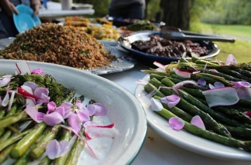A multi-course meal with an emphasis on foraged ingredients prepared by chef Kyle Nicholson