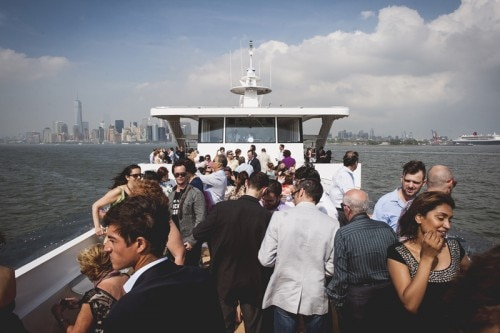 Rosé was the perfect accompaniment for a Hudson River cruise