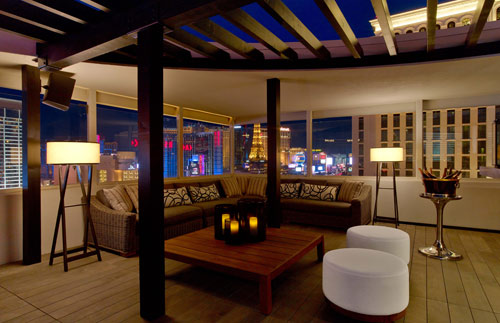 The luxurious Nobu Villa at the top of Nobu Hotel Caesars Palace