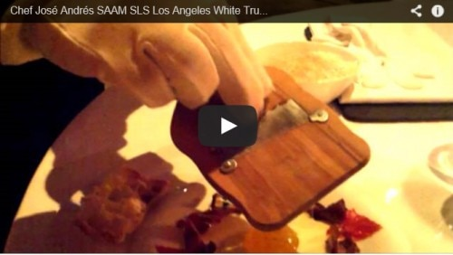 White truffle dinner sls la