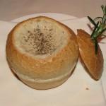 Prego's Mushroom Soup in Bread Bowl