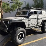 "The custom-built, bullet-hole-riddled Jeep Wrangler used in ""Furious 7"""