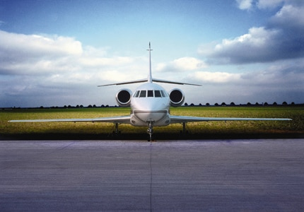 The exterior of a Dassault Falcon 2000