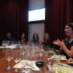 Winemaker Molly Hill leading the Sequoia Grove wine dinner at FIG restaurant