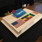 Cake celebrating the inauguration of Ethiopian Airlines Flights to Los Angeles