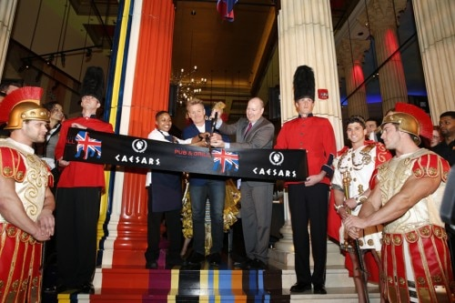 Celebrity chef Gordon Ramsay cuts the ribbon