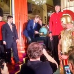 Ceremonial tapping of the firkin at Gordon Ramsay Pub & Grill