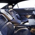 A rear-seat view of the Lincoln Continental Concept 30-Way Seats