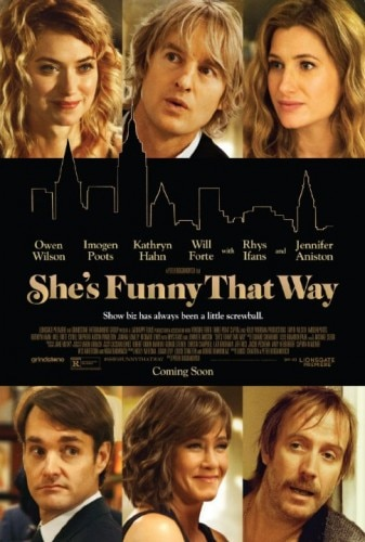 She's Funny That Way features an all-star cast lead by romantic comedy veterans Owen Wilson and Jennifer Aniston