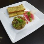 Tuna tartare with watermelon radishes