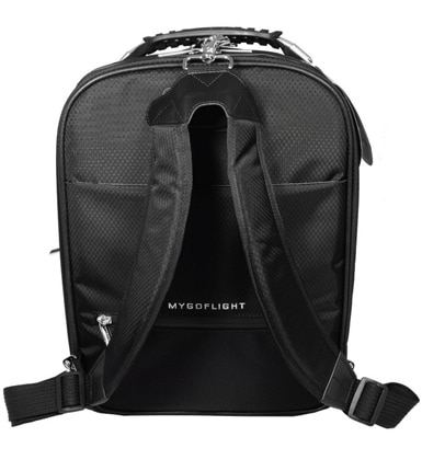 MyGoFlight's Flight Bag PLC Pro is equipped with highly padded backpack straps.