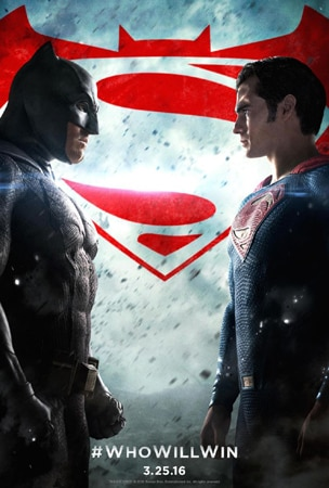 Zack Snyder's Batman v Superman, starring Ben Affleck and Henry Cavill