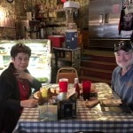 Mike and Malea Bell have lunch at the Oatman Hotel's restaurant