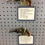 A couple of .22 caliber handguns on display at the J.M. Arms & Heritage Museum in Oklahamo