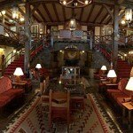 A view of the lobby at the historic El Rancho Hotel in Gallup, New Mexico