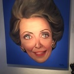 A painting of Nancy Reagan at the La Posada Extensive Art Works gallery