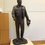 A sculpture of Former President Ronald Reagan on display at the National Cowboy & Heritage Museum