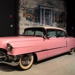 A vintage Cadillac and many other classic automobiles can be seen at Graceland's car museum