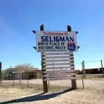 Seligman's welcome sign for weary travelers