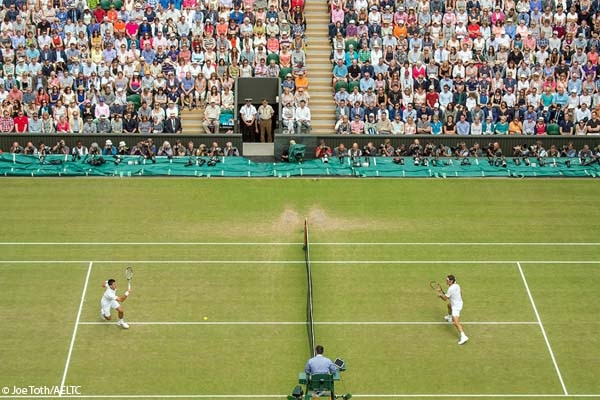 Witness top tennis players compete on the court during Wimbledon 2016