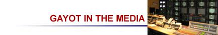 Gayot.com om TV