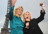 Sophie Gayot in Paris with KTLA's Jessica Holmes