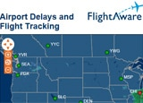 Our weather page now can be used to track flights and airport delays thanks to Flightaware
