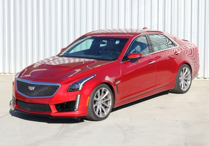 The 2016 Cadillac CTS-V Sedan RWD, one of GAYOT's Top 10 4-Door Sports Cars