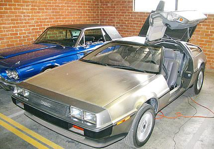 Take a ride back to the future in the iconic DeLorean