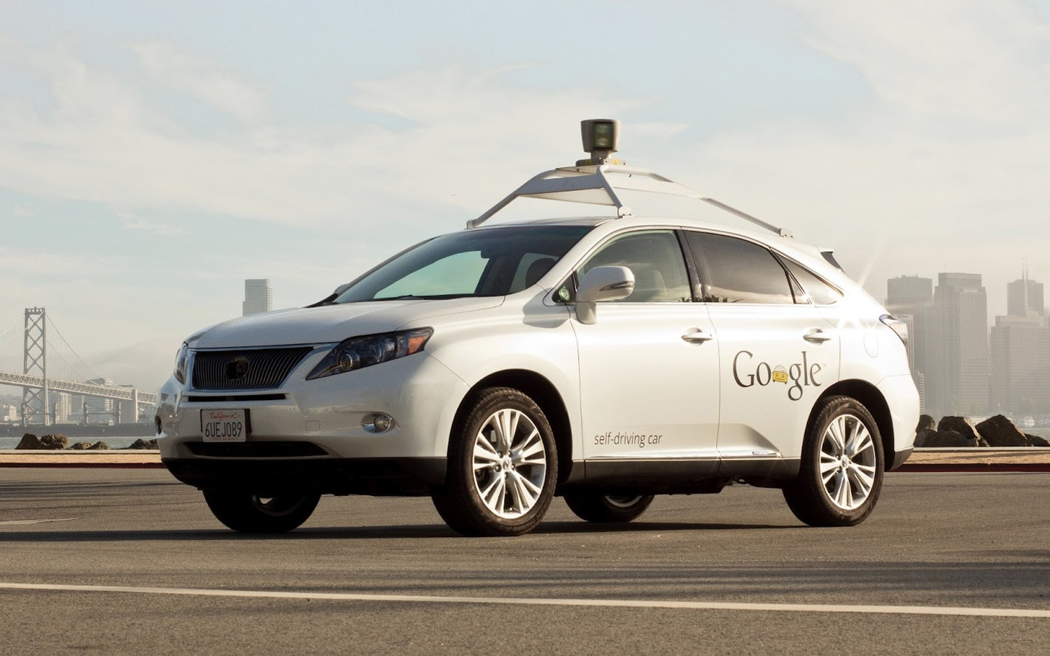 Google Lexus RX Autonomous Vehicle