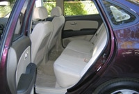 The Hyundai Elantra features comfy seats and a spacious back row