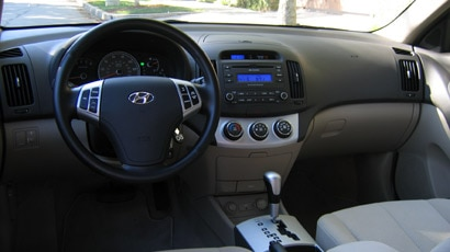 The Hyundai Elantra interior is beautifully crafted and looks like it belongs to a Lexus