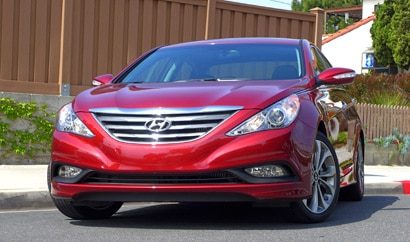 A front view of the 2014 Hyundai Sonata Turbo