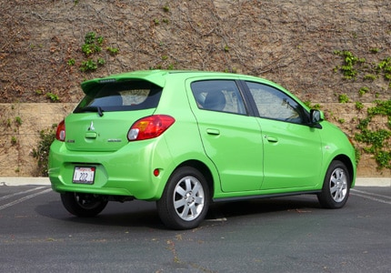 The Mitsubishi Mirage, one of GAYOT's Top 10 Cheap Cars