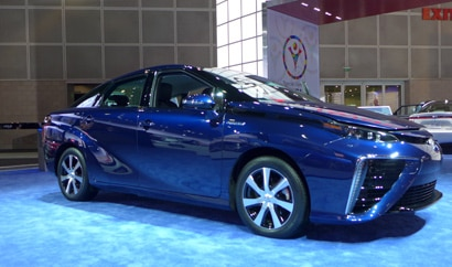 The Toyota Mirai at the 2014 Los Angeles Auto Show