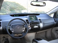 An interior view of a 2005 Toyota Prius in Las Vegas