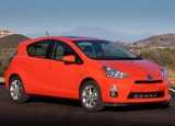 A three-quarter front view of the Toyota Prius c