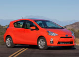 The Toyota Prius c is one of a number of available hybrids in the Toyota Rent a Car program