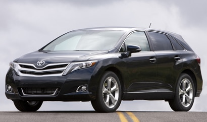 A three-quarter front view of a 2013 Toyota Venza