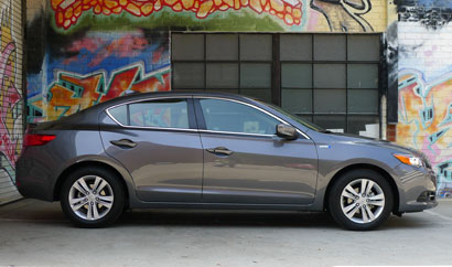 A side view of the Acura ILX Hybrid