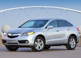 A three-quarter front view of a 2013 Acura RDX
