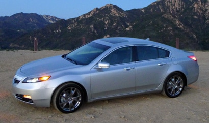 A side view of a 2013 Acura TL SH-AWD ADV