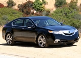 A three-quarter front view of a 2009 Acura TL SH-AWD